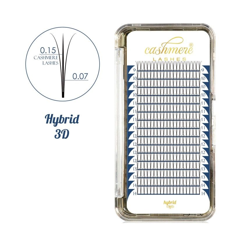 Rzęsy Wonder Lashes - Cashmere Lashes Hybrid 3D - Mix
