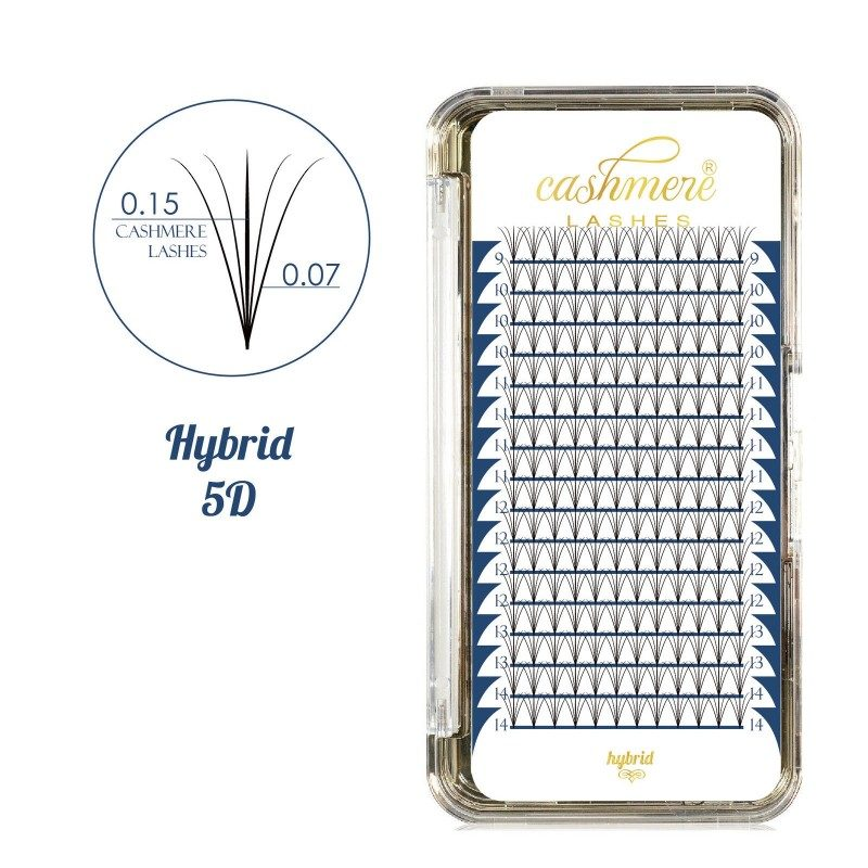 Rzęsy Wonder Lashes - Cashmere Lashes Hybrid 5D - Mix