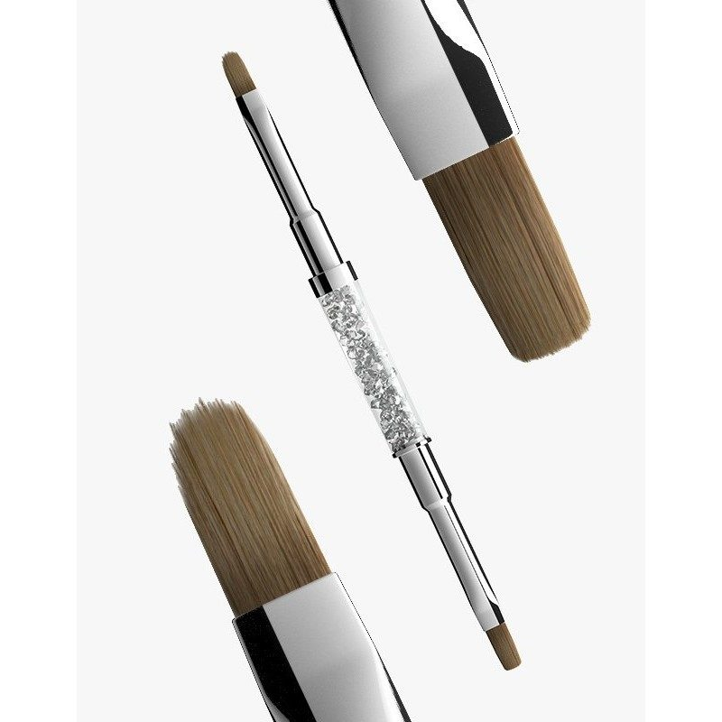 Semilac Gel Brush N 4 (flat+oval) - pędzelek do zdobień