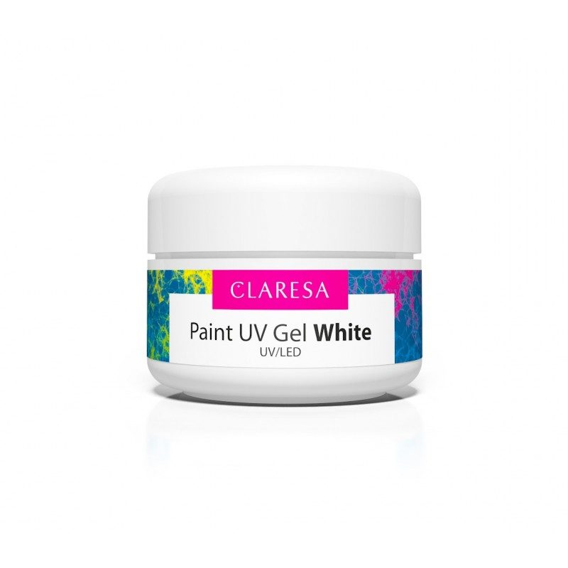 CLARESA PAINT GEL WHITE - ŻEL KOLOROWY 5 ML